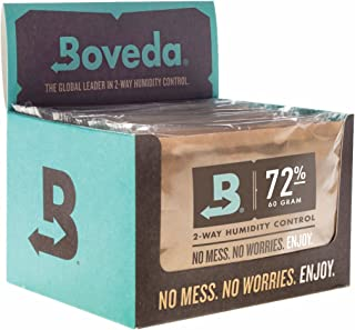 Boveda 72-Percent RH Retail Cube Humidifier/Dehumidifier, 60gm – Pack of 12