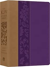The KJV Study Bible - Large Print [Violet Floret] (King James Bible)
