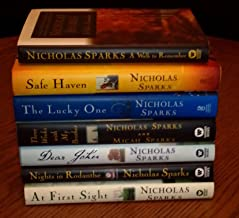 Nicholas Sparks 7 Book Set (Safe Haven ~ A Walk to Remember ~ Three Weeks with my Brother ~ A First Sight ~ Dear John ~ Ni...