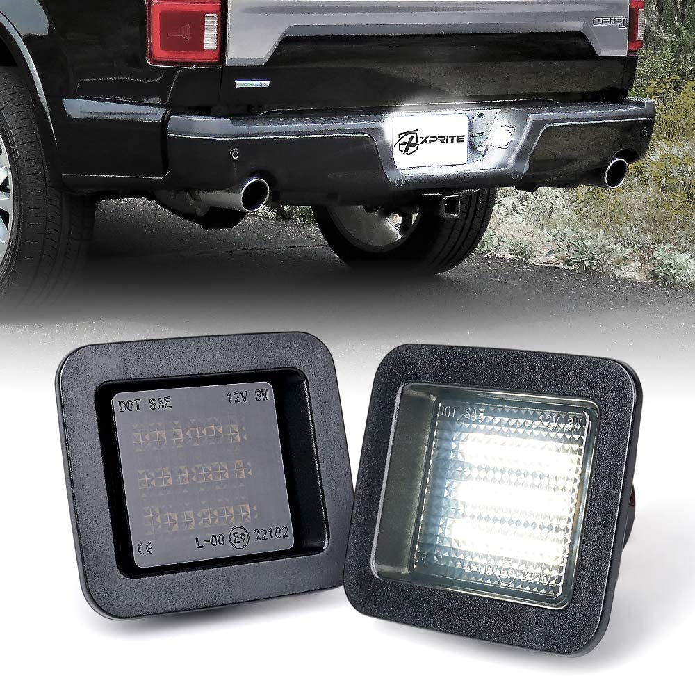Xprite LED Smoke Lens License Plate Light Assembly Max 54% OFF Manufacturer OFFicial shop Lam Tag White