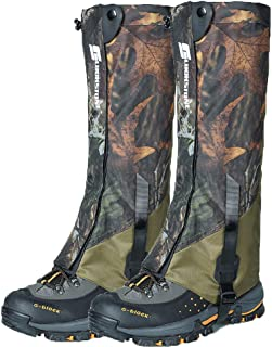 Ueasy Leg Gaiters, Boot Gaiters Waterproof Leg Gaiters for Men and Women 600D Anti-Tear Oxford Fabric for Outdoor Hiking Walking Hunting Snow Skiing Camping Climbing Mountain