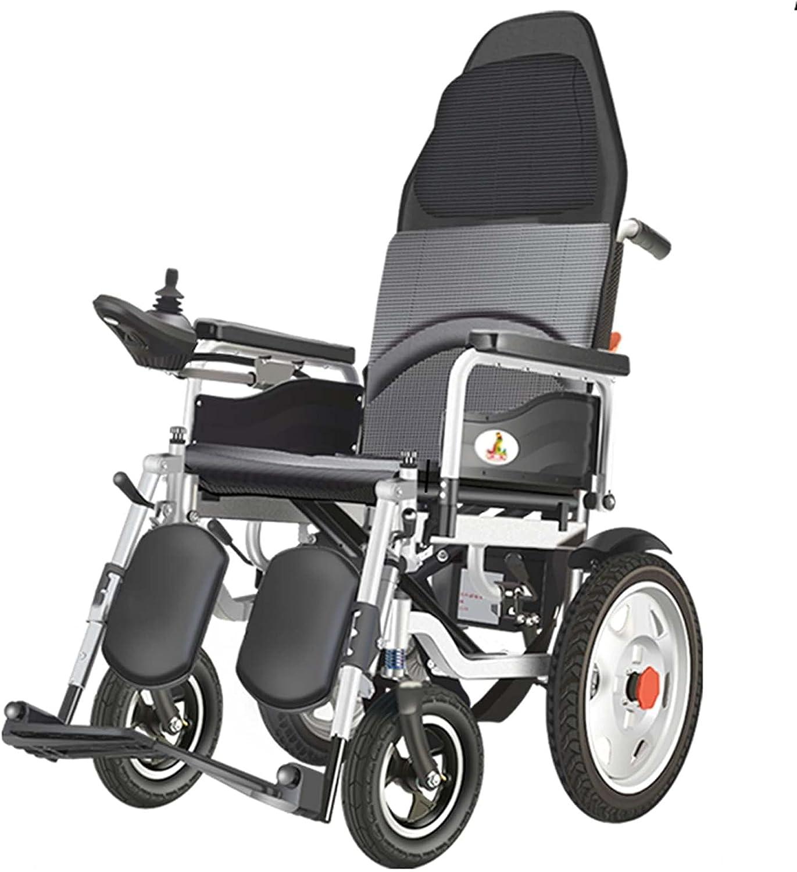 LLSS Silla de Ruedas eléctrica Plegable y Liviana, Silla de Ruedas para Ancianos, discapacitados, Mujeres Embarazadas y Mujeres Embarazadas, Adecuada para Viajes al Aire Libre