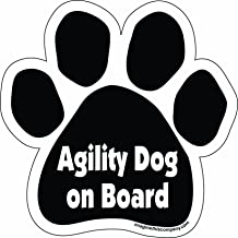 Imagine This Paw Car Magnet, Agility Dog on Board, 5-1/2-Inch by 5-1/2-Inch
