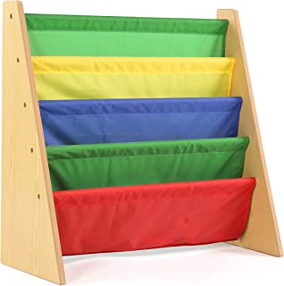 Humble Crew WO593 Kids Book Rack Storage Bookshelf, 28.00 x 11.00 x 28.00, Natural/Primary