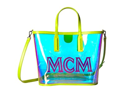 MCM Luccent Shopper Medium (Neon Yellow) Handbags