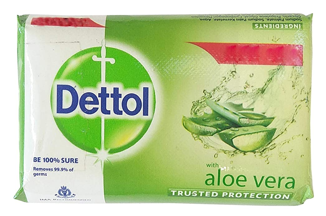 結婚式ヒント汚染されたDettol Aloe Vera Bath Soap pack of 3nos x 100gms