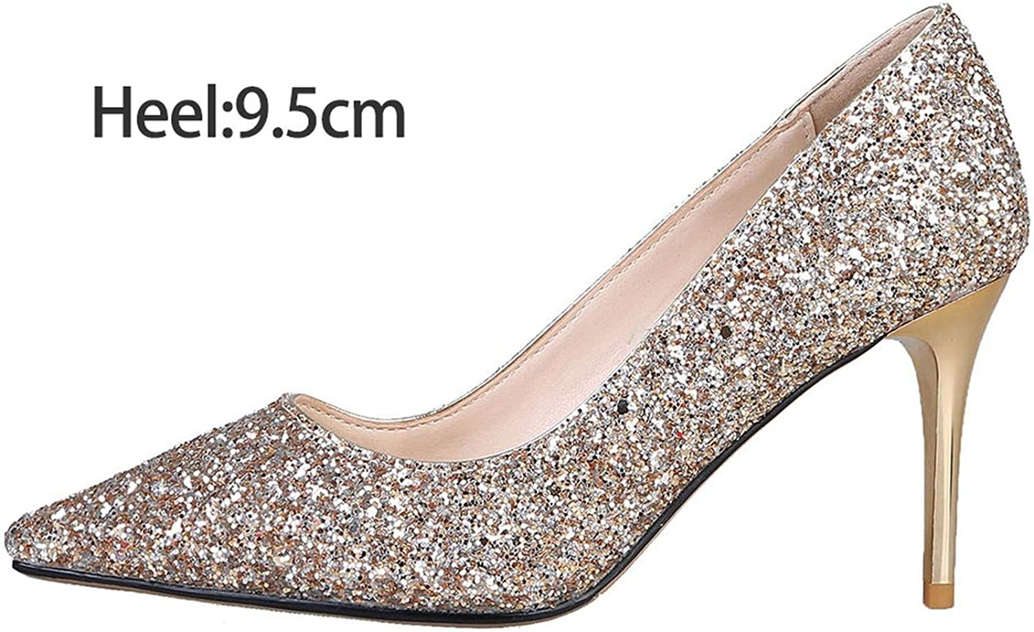 FINDYOU Bling Women Wedding High Heels Gradient Sexy Fashion Party Pumps Bridal gold Silver Red