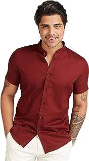Iconic Men's 2300593 CHUR Regular Shirt, Red
