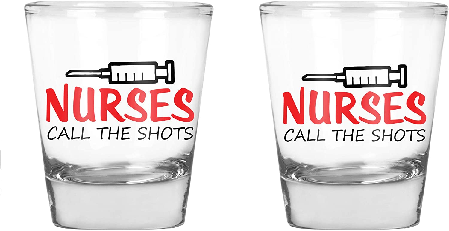 AW Fashions Nurses Call Classic The Shots Factory outlet Gift - Party Favor Nurse Funny