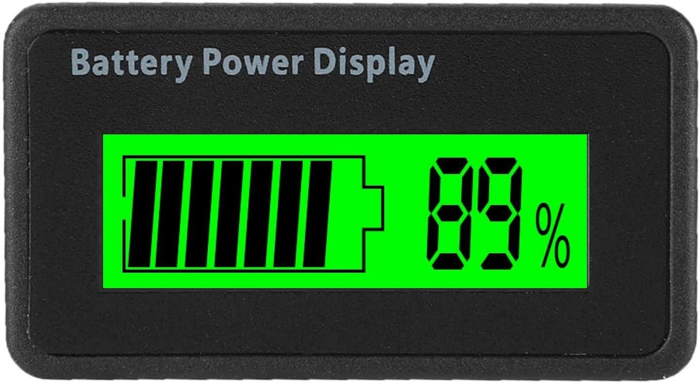 Battery Capacity Indicator, With A Pvc Film 12-48V Voltage Tester, Waterproof HTN/for HomeGreen light