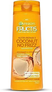 Garnier Fructis Coconut No-Frizz Shampoo for Frizzy Hair, 315ml