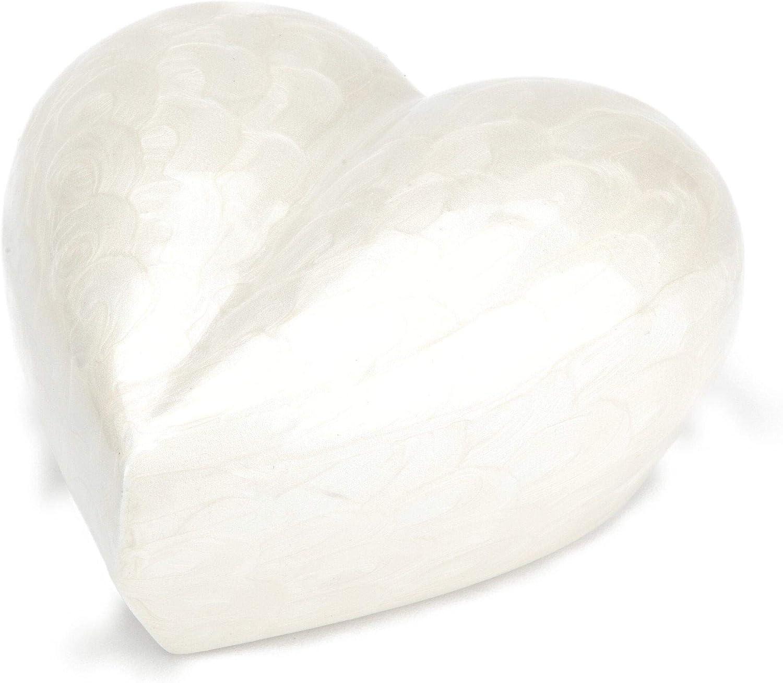 Urns UK Cremation Memorial Heart Pearl 3