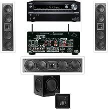 Klipsch KL-6504-THX In-Wall 3.1 SW-310 Onkyo TX-NR838 7.2 Channel Network- White