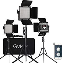 GVM 560 LED Video Light, Dimmable Bi-Color, 3 Packs Photography Lighting with APP Intelligent Control System, Lighting for YouTube Studio Outdoor, Video Lighting Kit, 2300K-6800K, CRI 97+