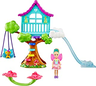 Barbie Dreamtopia Chelsea Fairy Doll and Fairytale Treehouse Playset with Seesaw, Swing, Slide, Pet and Accessories, Gift ...