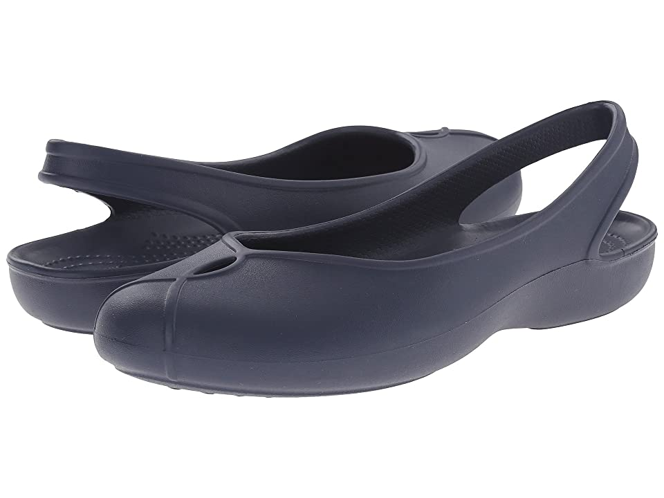 Crocs Olivia II Flat (Navy) Women