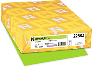 Wausau Astrobrights Heavy Duty Paper, 24 lb, 8.5 x 14 Inches, Terra Green, 500 Sheets (22582)