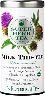 The Republic of Tea Organic Milk Thistle Superherb Detox Herbal Tea (36 Tea Bags)