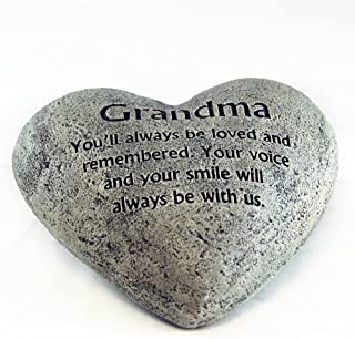 Gerson Heart Shaped Memory Stone for Grandma