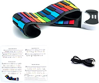 Play by Color Piano. Portable & Flexible 49 Color Co