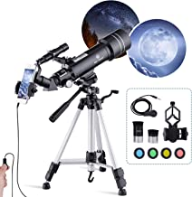 Telescope for Adults Kids and Beginner 40070MM Refraction Astronomy Telescope for Children Professionals Moon Telescope wi...