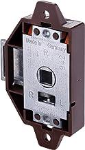 Gedotec Piccolo-Nova H9985 Draaistangslot met schroeven, kunststof bruin, schroefslot, doornmaat 25 mm, made in Germany, 1...