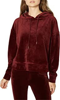 Sanctuary Womens Melrose Brigade Velour Hoodie Sweatshirt