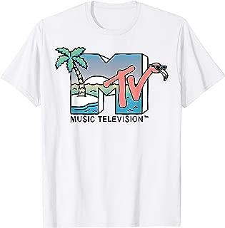 Beach Island Flamingo Logo Vintage Graphic T-Shirt