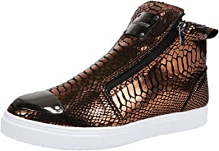 BAOFUA Freizeitschuhe Herren Herbst und Winter Kurze Stiefel Mode Side Zipper Stiefeletten High Top Board Schuhe Outdoor r...