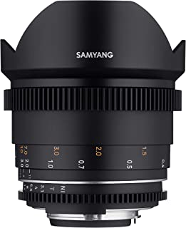 Samyang MF 14mm T3.1 VDSLR MK2 Nikon F - Bright T3.1 Ultra Wide Angle Cine and Video Lens for Nikon F Mount, 14mm Fixed Fo...