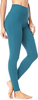 QUEENIEKE Womens Yoga Pants Power Flex Mid-Waist Sports Leggings Tummy Control Workout Pants with Pocket for Running Fitness Yoga