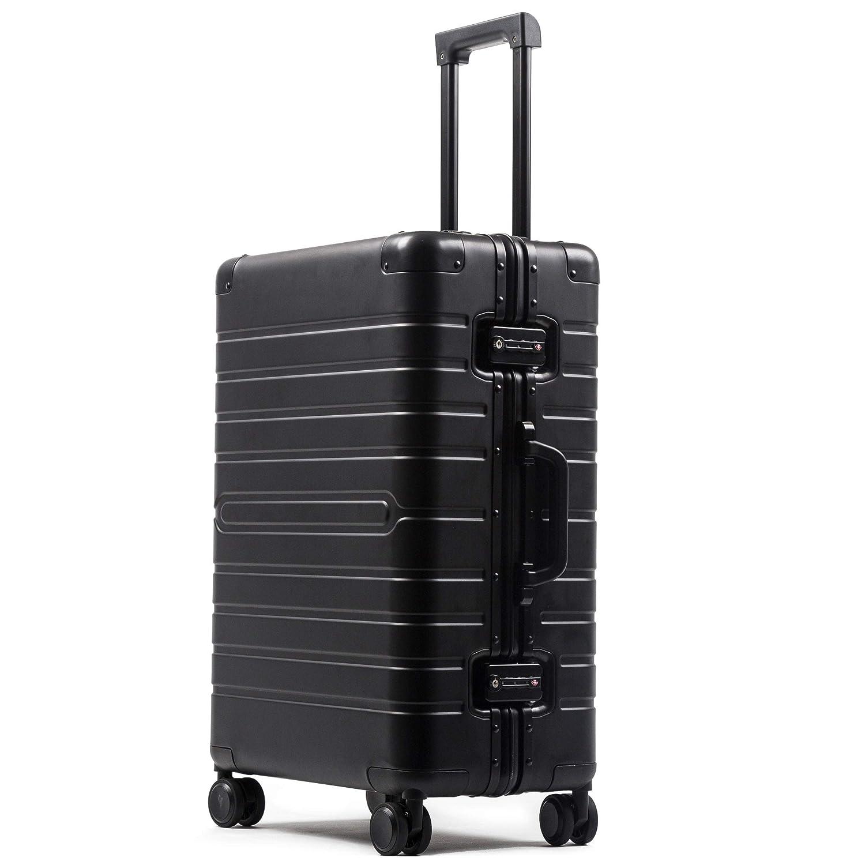 ビルガセ(Vilgazz) スーツケース アルミ?マグネシウム合金ボディ 軽量 キャリーケース 丈夫 キャリーバッグ TSAロック付 大容量 静音 ビジネス 旅行出張 機内持込 1年保証