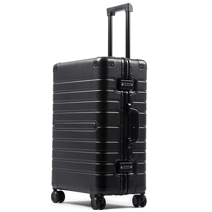 接続効果競争ビルガセ(Vilgazz) スーツケース アルミ?マグネシウム合金ボディ 軽量 キャリーケース 丈夫 キャリーバッグ TSAロック付 大容量 静音 ビジネス 旅行出張 機内持込 1年保証