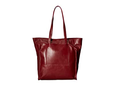 Scully Cintia Leather Tote Bag (Red) Handbags