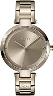 Women's #Hope Stainless Steel Quartz Watch with Beige Gold Ion Plated Strap, 8 (Model: 1540077)