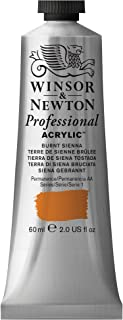 Winsor & Newton Professional Acrylic Color Paint, 60ml Tube, Burnt Sienna