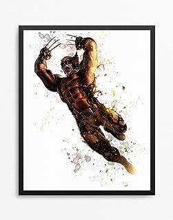 Wolverine Print, Logan Print, Wolverine Poster, Logan Poster, X-Men Watercolor N.002 (16 x 20 inch)