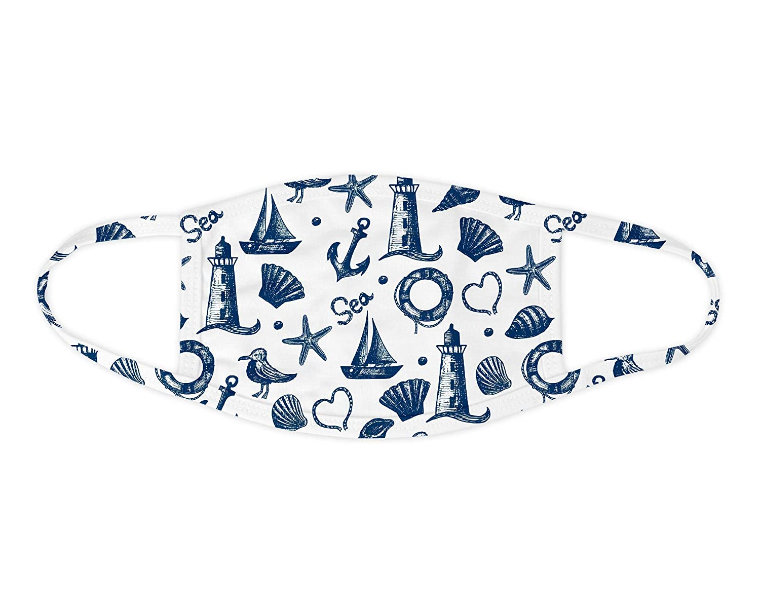 Nautical Miami Easy-to-use Mall Face Mask Washable Covering