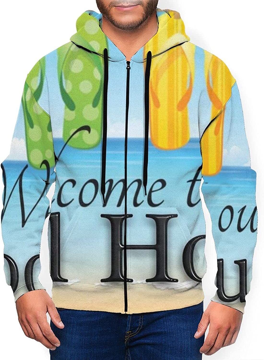 Super special price Welcome Popular brand in the world To Our Pool House Cotton Unisex 3D Digital Pri Realistic