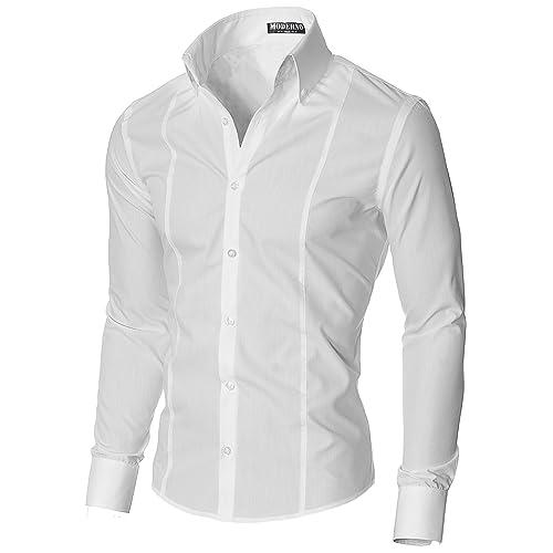 MODERNO - Slim Fit Camisa Formales para Hombre (MSSF501)