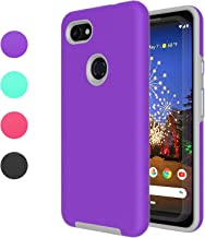Ownest Compatible Google Pixel 3a Case(2019) Non-Slip Anti-Fall Dual Layer 2 in 1 Hard PC TPU with Protection Thin Lightweight for Google Pixel 3a (5.6Inch)-(Purple3)