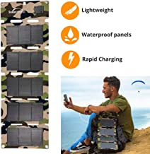 Solar Camp 5V 10W Portable USB Solar Charger Waterproof Foldable Camping Travel Charger Compatible iPhone Xs XS Max XR X 8 7 Plus, iPad(ipad pro Exclusive), Galaxy S9 S8 Edge Note 8, Nexus, GPS