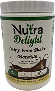 Nutra Delight Chocolate Nutrition Powder - Dairy Free Chocolate Shake - Vegan, Keto-Friendly, Vegetarian, S...