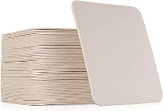 Plain White Coasters (50, Square)