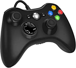 Xbox 360 Wired Controller for Microsoft Xbox 360, Game Controller with Dual-Vibration Turbo for Xbox 360/360 Slim and PC W...