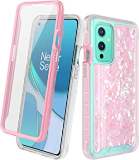 Oneplus 9 Case with Built-in Screen Protector, Rosebono Hybrid Graphic Design Pattern Hard Back Pannel Cover 360 Protectio...