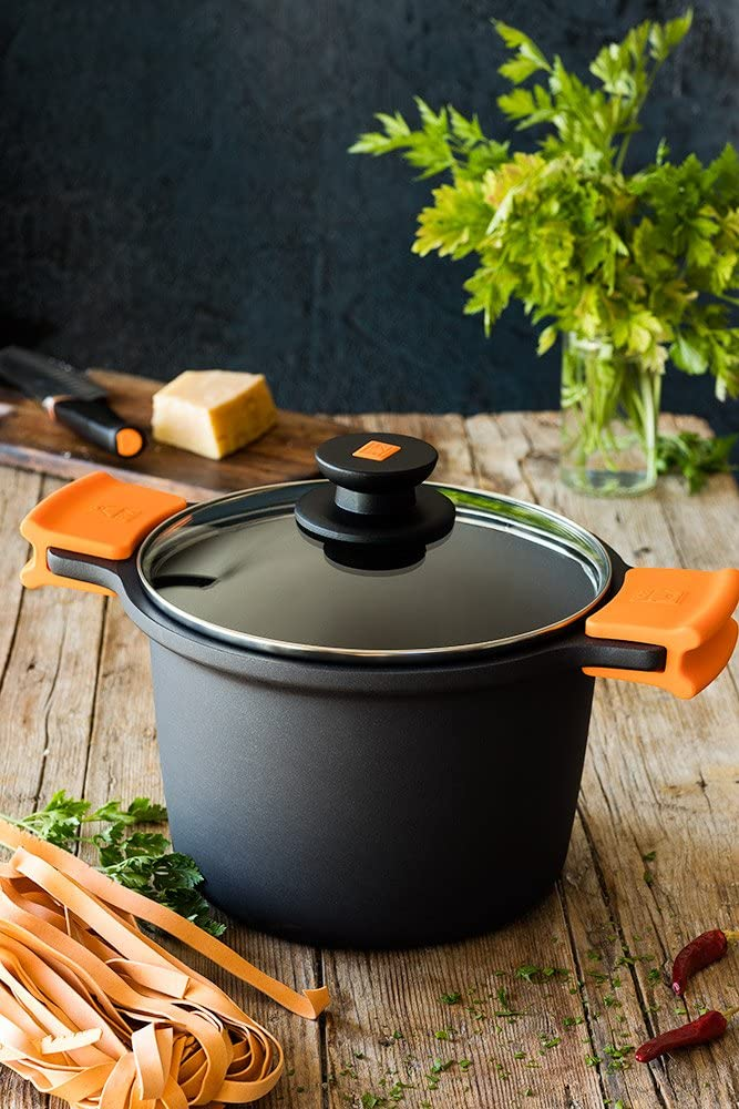 Cast All Cookers Including Induction. Braisogona Efficient Aluminium Stockpot with Lid 24 cm