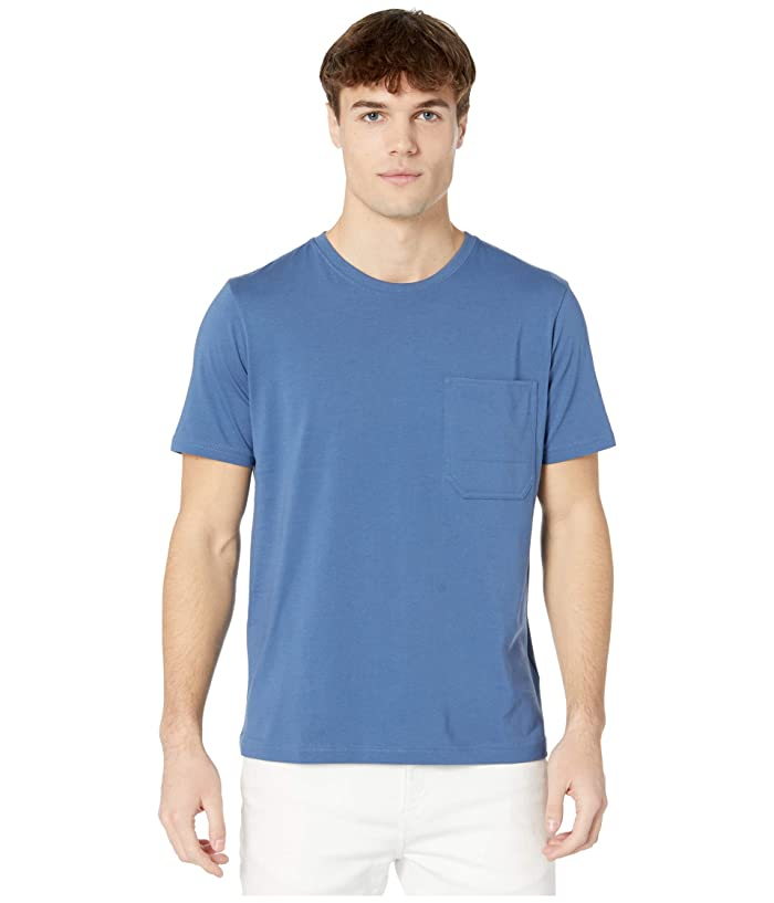 7 For All Mankind  Pocket T-Shirt (Mid Blue) Mens Clothing