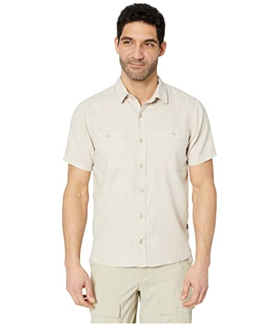 Toad&Co Taj Hemp Short Sleeve Shirt Slim (Oatmeal Chambray) Men