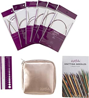 Knit Picks Fixed Circular Sock Knitting Needle Set (Nickel Plated)